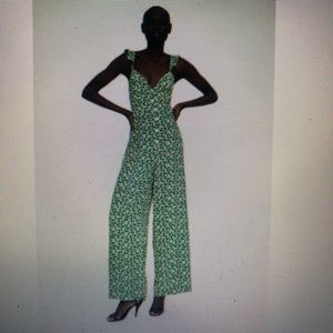 Zara Green Printed Jumpsuit